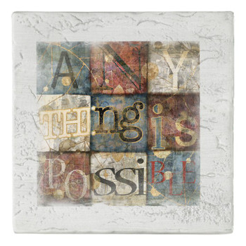 Anything is Possible Beverage Coasters, Set of 8