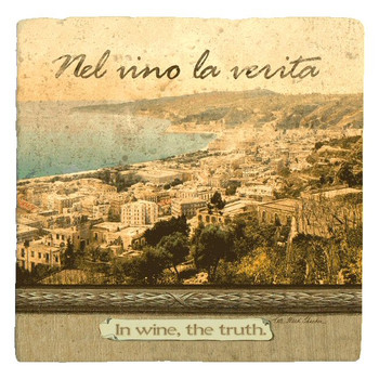 Italian Inspirations in Wine the Truth Beverage Coasters, Set of 12