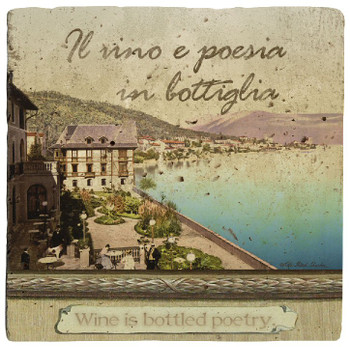 Italian Inspirations Bottled Poetry Beverage Coasters, Set of 8