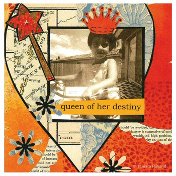 Queen of Her Destiny Absorbent Coasters by Tamara Holland, Set of 8