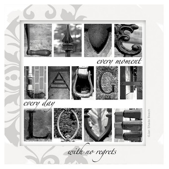 Live Laugh Love Beverage Coasters by Jan Shade Beach, Set of 8