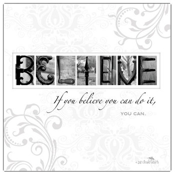 Believe Absorbent Beverage Coasters by Jan Shade Beach, Set of 12