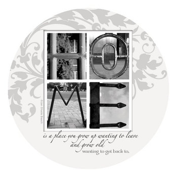 Home is a Place You Grow Beverage Coasters by J. Shade Beach, Set of 8