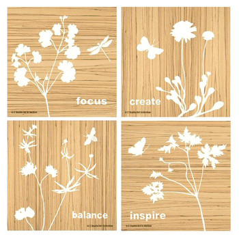 Nature's Balance Absorbent Beverage Coasters by Z Studio, Set of 8