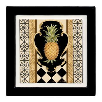 Pineapple Scroll Beverage Coasters, Set of 8