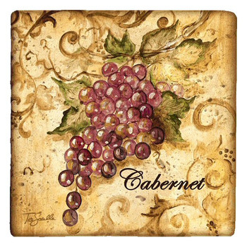 Wine Grapes Beverage Coasters by Tre Sorelle Studios, Set of 12