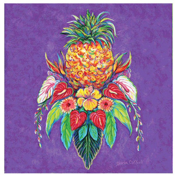 Welcome Pineapple I Absorbent Coasters by Gloria Clifford, Set of 8