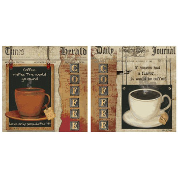 Coffee Heaven-Love Absorbent Coasters by Grace Pullen, Set of 8