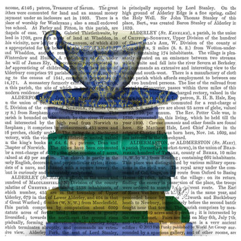 Teacup and Books Print Absorbent Beverage Coasters, Set of 12
