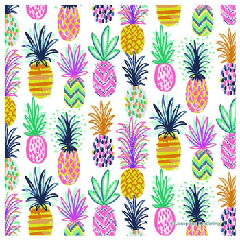 Pineapple Party Absorbent Beverage Coasters, Set of 12