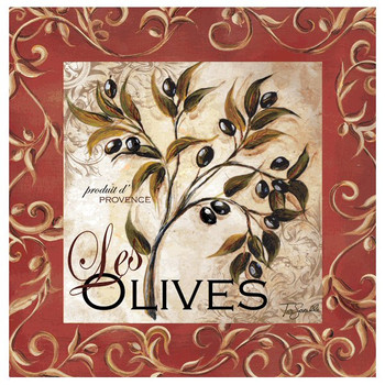 Olive Scroll Beverage Coasters by Tre Sorelle Studios, Set of 8