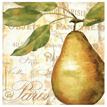 Cafe d'Or II Pear Beverage Coasters by Color Bakery, Set of 8