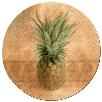 Pineapple Cork Beverage Coasters, Set of 12