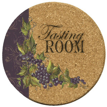 Tasting Room Grapes Cork Coasters by Tre Sorelle Studios, Set of 12