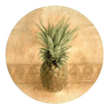 Pineapple Sandstone Beverage Coasters, Set of 8