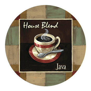 House Blend Java Coffee Coasters by Garden Street Galleries, Set of 8