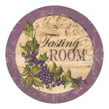 Tasting Room Grapes Sandstone Coasters by Tre Sorelle Studios, Set/8