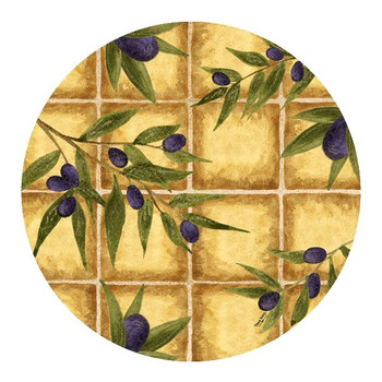 Olive Tiles Sandstone Beverage Coasters by Tara Reed, Set of 8