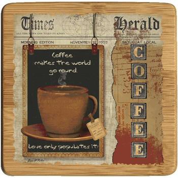 Coffee Love Beverage Coasters, Set of 8