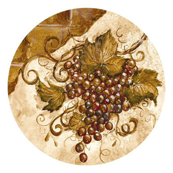 Grapes Round Beverage Coasters by Tre Sorelle Studios, Set of 8