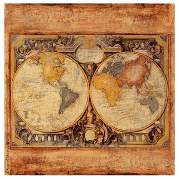 Old Map Absorbent Beverage Coasters by Susan Osborne, Set of 8