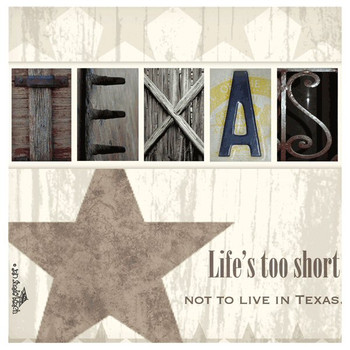 Life's Too Short Not to Live in Texas Beverage Coasters, Set of 8