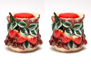 Strawberry Terra Cotta Tart Burner, Set of 2