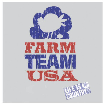 Farm Team USA Absorbent Beverage Coasters by Life Is Country, Set of 8