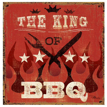 King of BBQ Absorbent Beverage Coasters, Set of 8