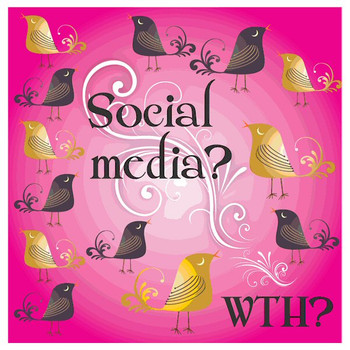 Social Media? WTH? Absorbent Beverage Coasters, Set of 12