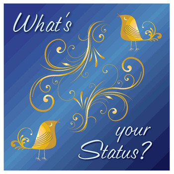 What's Your Status? Absorbent Beverage Coasters, Set of 12