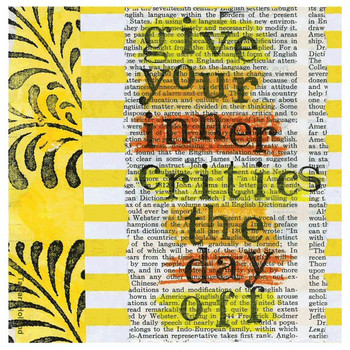 Inner Critics Absorbent Beverage Coasters by Tamara Holland, Set of 12