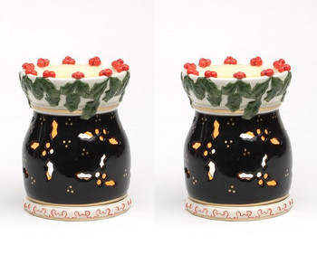 Holly and Berries Tart Burner, Set of 2