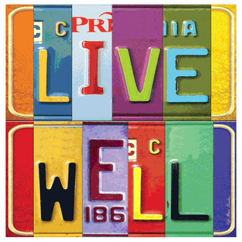 Live Well Absorbent Beverage Coasters by Kate Ward Thacker, Set of 12