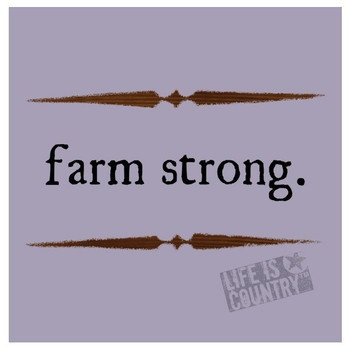 Farm Strong Absorbent Beverage Coasters by Life Is Country, Set of 12