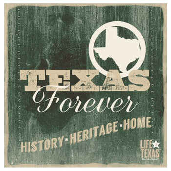 Texas Forever Beverage Coasters by Life Is Country, Set of 12