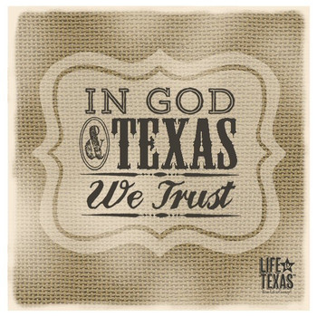 In God and Texas Beverage Coasters by Life Is Country, Set of 12