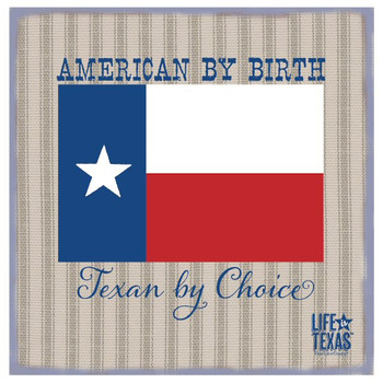 Texan by Choice Beverage Coasters by Life Is Country, Set of 12
