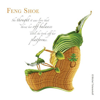 Feng Shoe Beverage Coasters by Michael Tcherevkoff, Set of 12