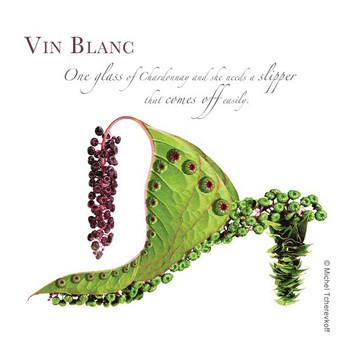 Vin Blanc Beverage Coasters by Michael Tcherevkoff, Set of 12