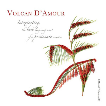 Volcan D Amour Beverage Coasters by Michael Tcherevkoff, Set of 12