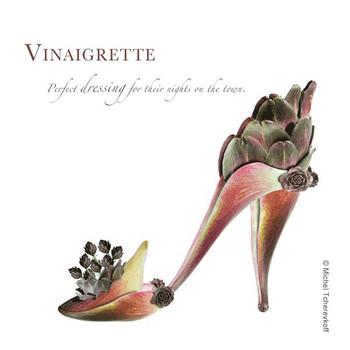 Vinaigrette Beverage Coasters by Michael Tcherevkoff, Set of 12