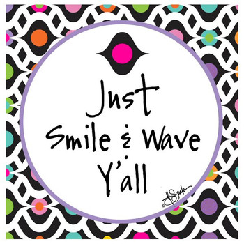Smile and Wave Absorbent Beverage Coasters by Jill Seale, Set of 12