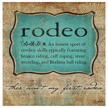 Rodeo Definition Absorbent Beverage Coasters, Set of 8