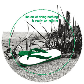 The Art of Doing Nothing Round Coasters by Maria Magistro, Set of 8