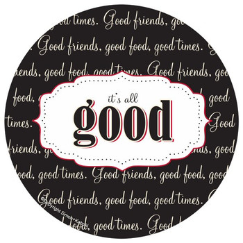 It's All Good Absorbent Round Coasters by Simon and Kabuki, Set of 8