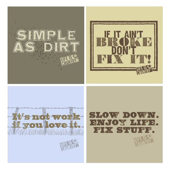Simple as Dirt Beverage Coasters by Life Is Country, Set of 8