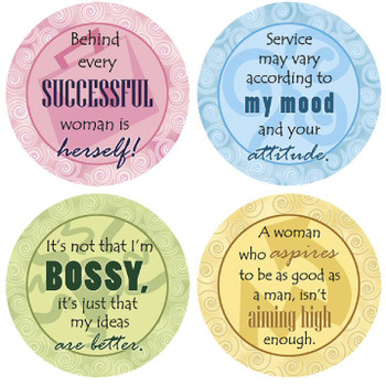 Successful Woman Beverage Coasters, Set of 8