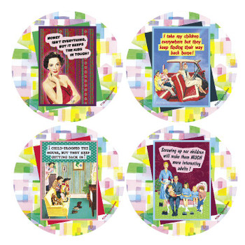 Kids Beverage Coasters, Set of 8
