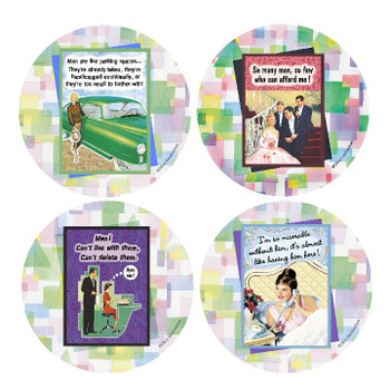 Men Beverage Coasters, Set of 8